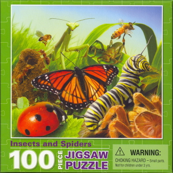 Insects and Spiders (100 Piece Jigsaw Puzzle)