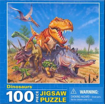 Dinosaurs (100 Piece Jigsaw Puzzle)