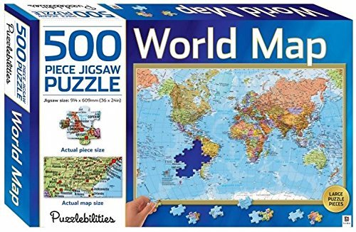 World Map: 500 Piece Jigsaw Puzzle (Puzzlebilities)
