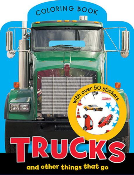 Trucks Mini Coloring Book