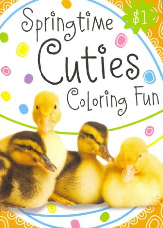 Springtime Cuties Coloring Fun