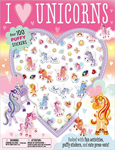 I Love Unicorns Activiy Book (with Puffy Stickers)