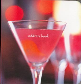Martini Glass Address Book