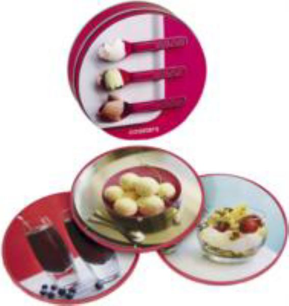 Snog Coasters in a Tin with Recipe Booklet (Paperstyle)