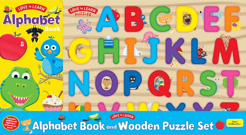 Alphabet Book and Wooden Puzzle Set (Love to Learn)