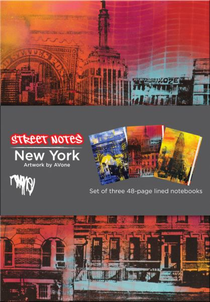 Street Notes: New York (Set of Three Medium 48-Page Lined Notebooks)
