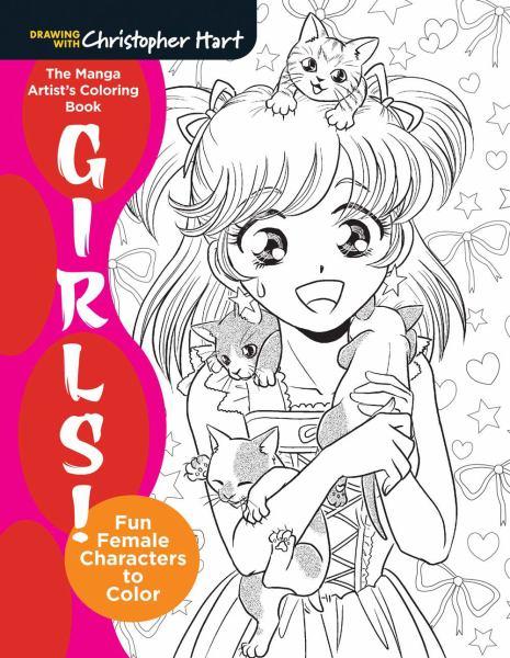 Girls! The Manga Artist's Coloring Book