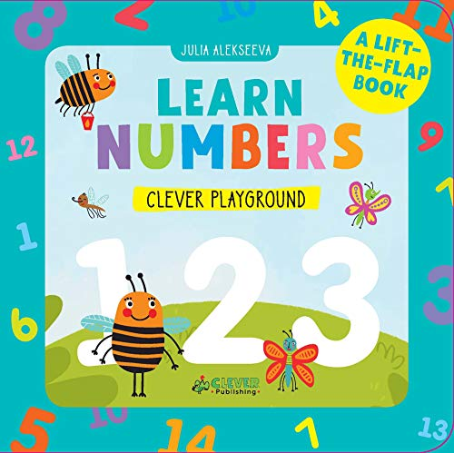 Learn Numbers: A Lift-the-Flap Book (Clever Playground)