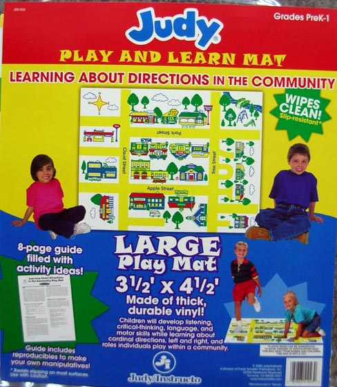 Learning About Directions In The Community (Judy Play and Learn Mat, PreK-1)