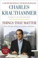 Things That Matter 9780385349192