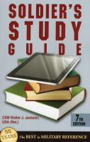 Soldier's Study Guide (7th Edition) 9780811711890