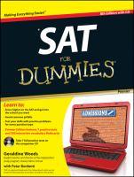 SAT for Dummies 9781118026076