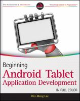 Beginning Android Tablet Application Development 9781118106730