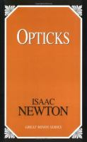 Opticks (Great Minds Series) 9781591020950