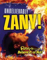 Unbeilievably Zany! (Ripley's Believe it or Not!) 9781609910709